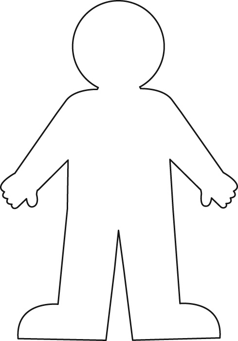 Simplicity image inside printable paper doll body